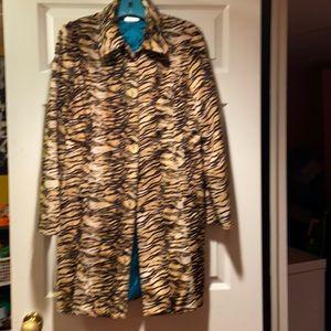 Guess long coat animal print